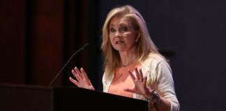 Sen. Marsha Blackburn at podium
