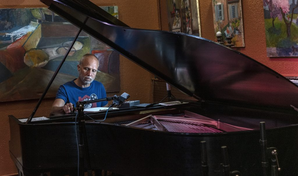 """Home studio owner Lij Shaw, 52, has been fighting over the home studio business since 2015. """"People can't play together over the internet, it's just not possible."""" ((Photograph by John Partipilo ©2020"""