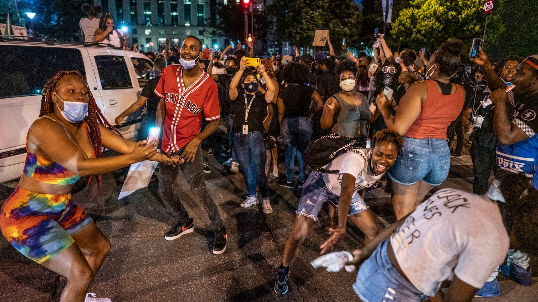 Nashville, Tenn., May 30 - Protestors in the streets of downtown Nashville. (Photo: John Partipilo)