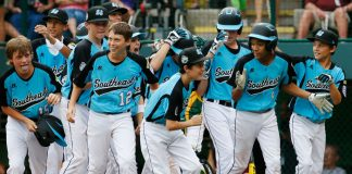 The Southeast team from Goodlettsville, Tennessee in the 2012 Little League World Series. (Photo by Rob Carr/Getty Images)