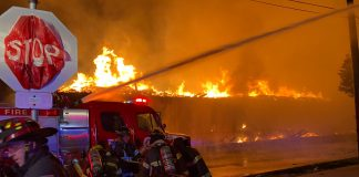 Fires in Minneapolis during protests, May 28. (Photo: Minnesota Reformer)