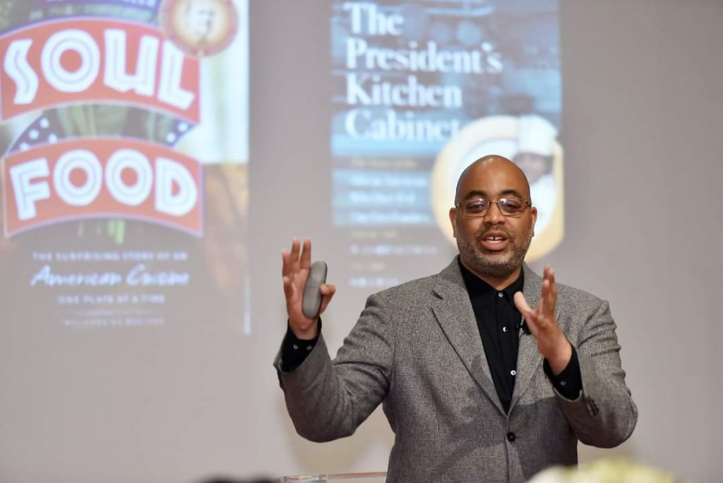 Adrian Miller, lawyer, public policy adviser and culinary historian, says soul food brings together the culinary techniques and traditions of West Africa, West Europe and the America's. It's an original fusion food, he says. (Photo: Anne Braly)