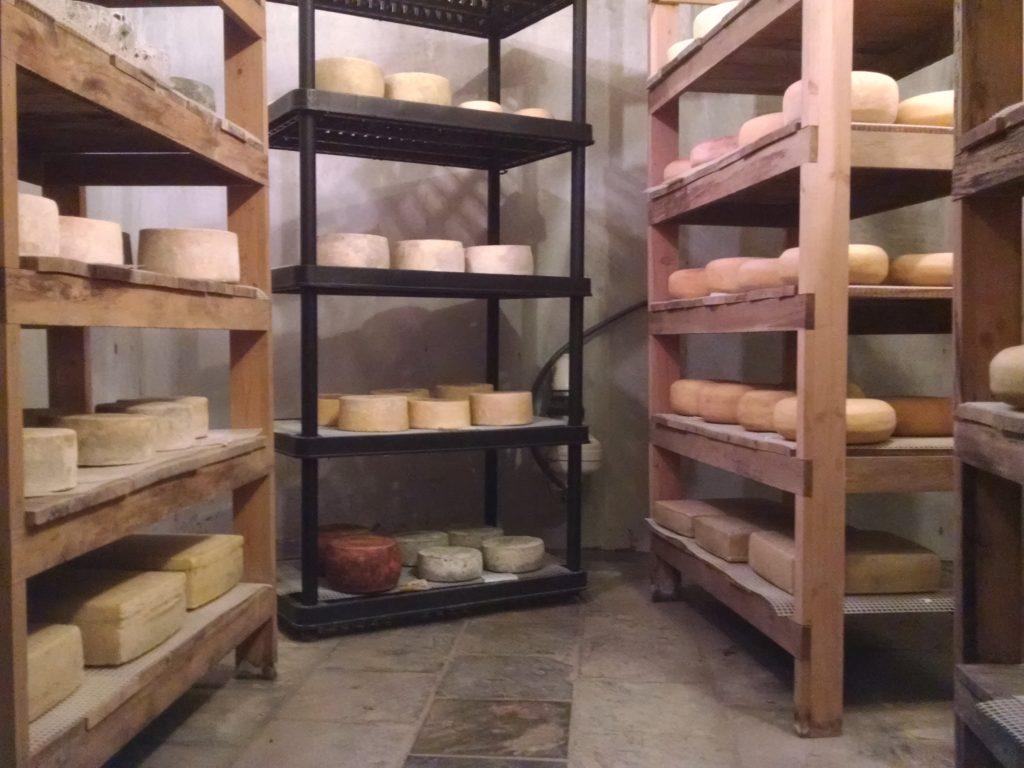 Cheese lines the shelves at Bonnie Blue Farm in Waynesboro, Tenn. (Photo: Bonnie Blue Farm.)
