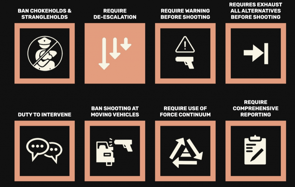 8 Can't Wait recommendations for police departments. (From 8 Can't Wait.)