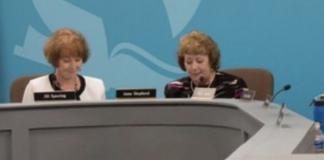 Metro Nashville School Board Chair Anna Shepherd, right, and Jill Speering, left. (Photo: Metro Nashville Public Schools)