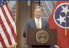 Screen grab of Gov. Bill Lee at Wednesday's press briefing.