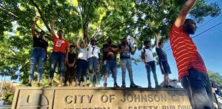 Johnson City, Tenn., June 12 - Black Lives Matter protest. (Photo: Misty Blue Scott)