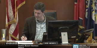 Metro Nashville Councilmember At-Large Bob Mendes chairing meeting of Council's budget committee. (Photo: Metro Nashville Network)