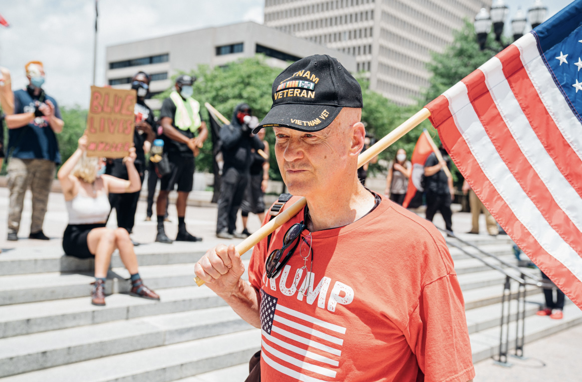 Nashville, Tenn., June 28 - Back the Badge demonstration (Photo: Alex Kent)