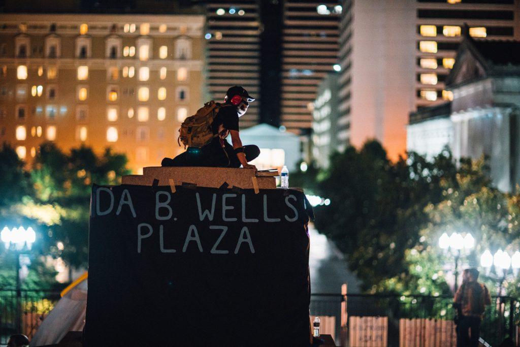 Nashville, Tenn., June 12 - Occupying War Memorial Plaza. (Photo: Alex Kent)