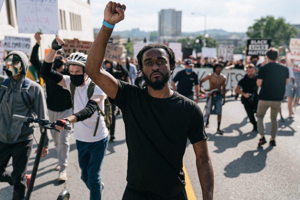 Man at Nashville rally, June 4. (Photo: Alex Kent)