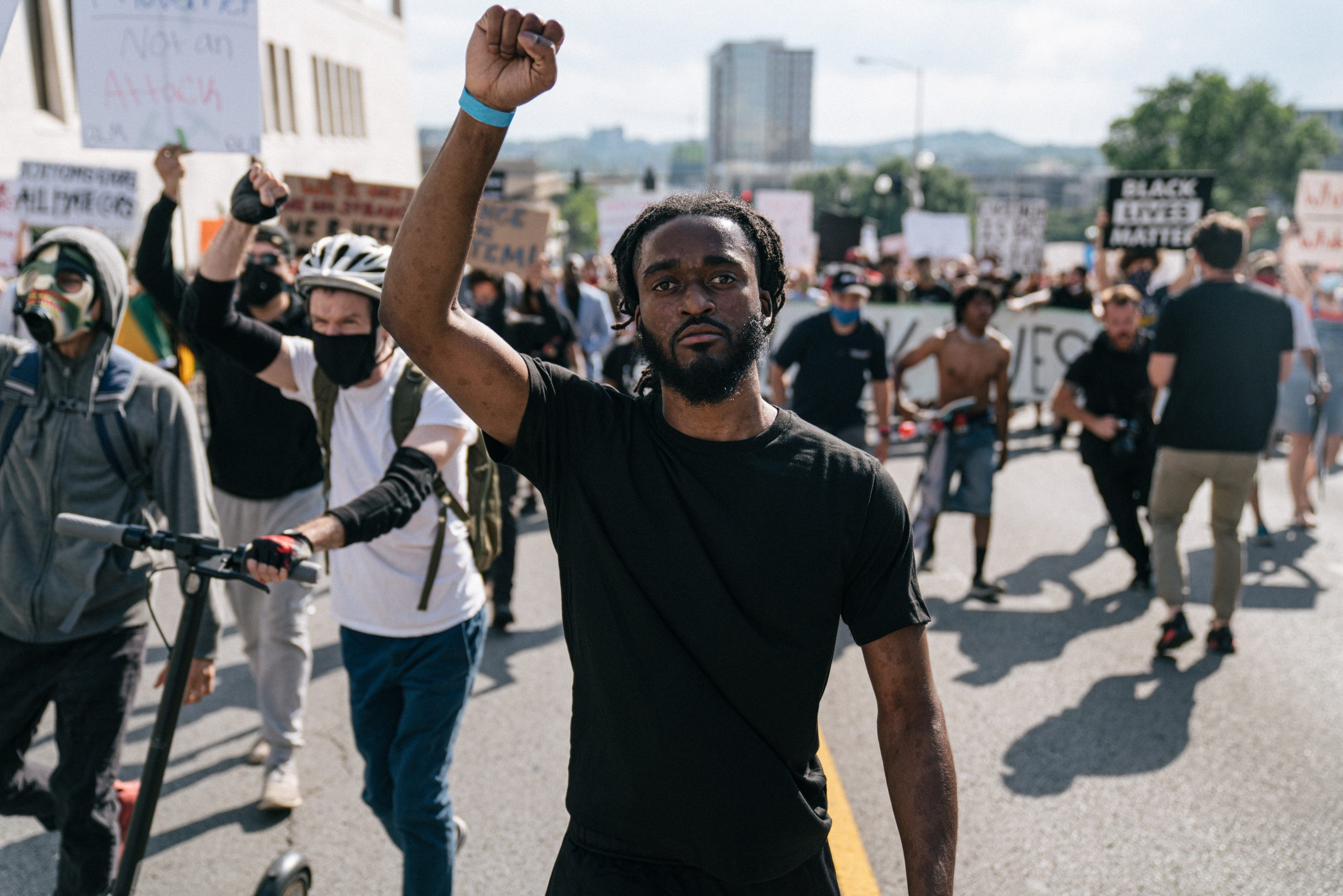 Man at Nashville rally, June 4. (Photo: Alex Kent)