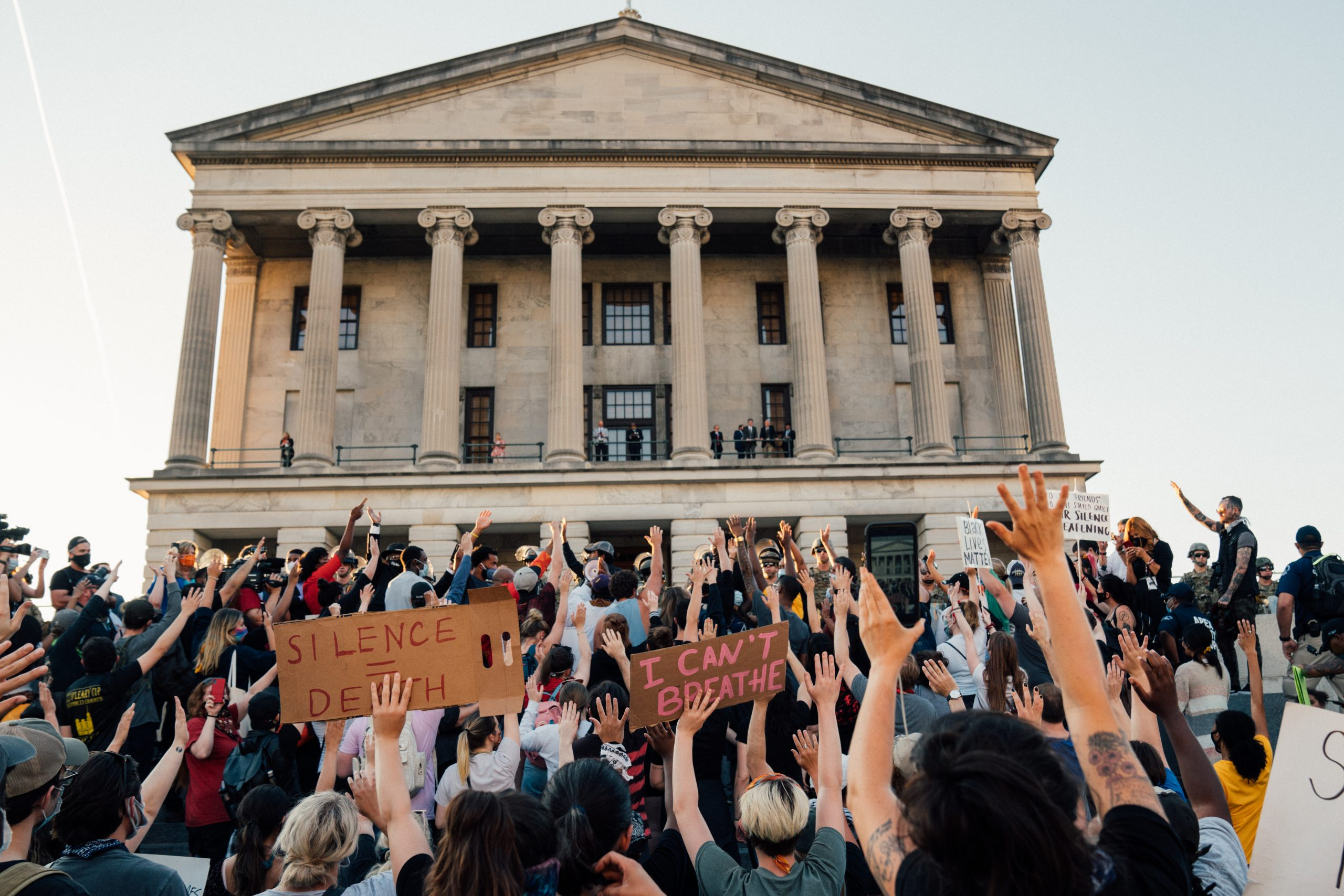 Nashville, Tenn., June 1 - The vigil crowd on the steps of the Tennessee State Capitol. (Photo: Alex Kent)