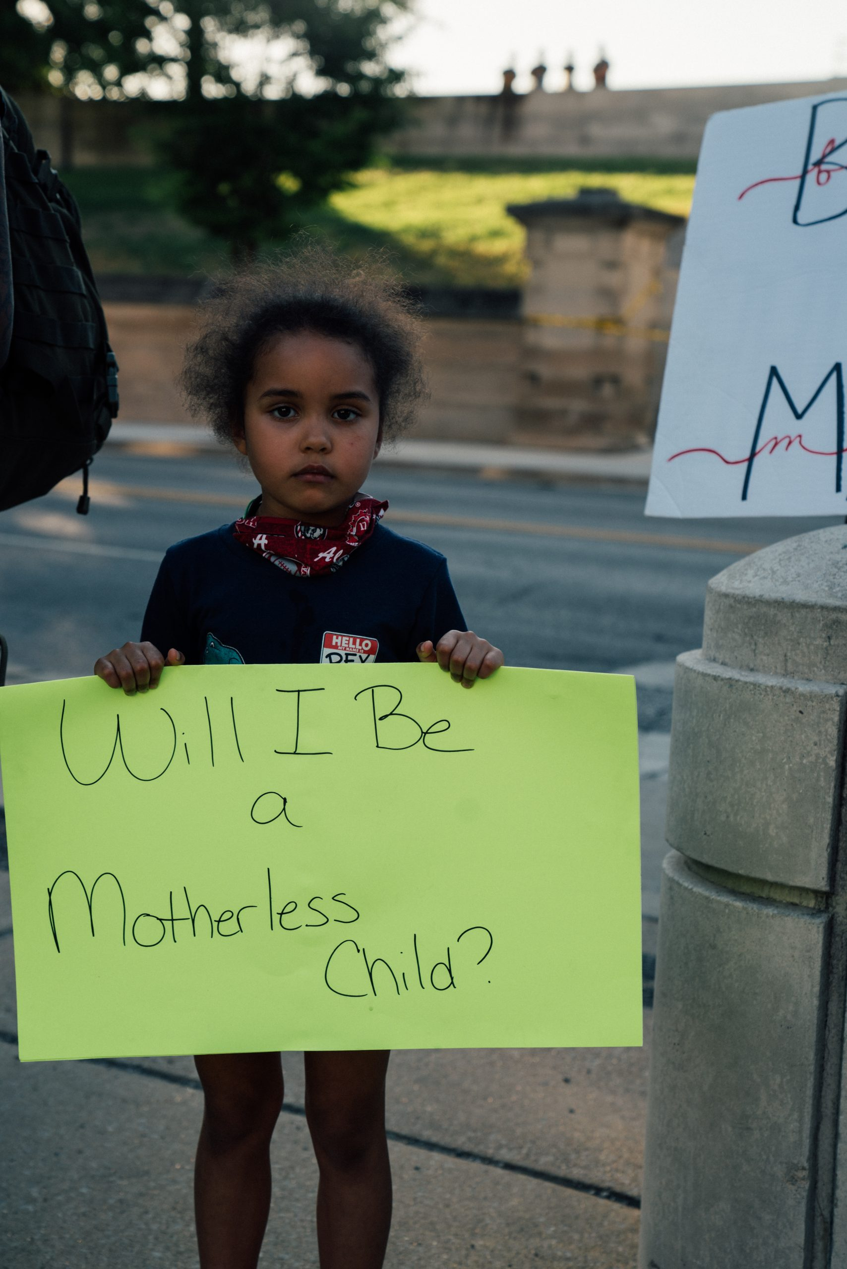 Nashville, Tenn., June 1 - A child participates in the vigil for George Floyd. (Photo: Alex Kent)