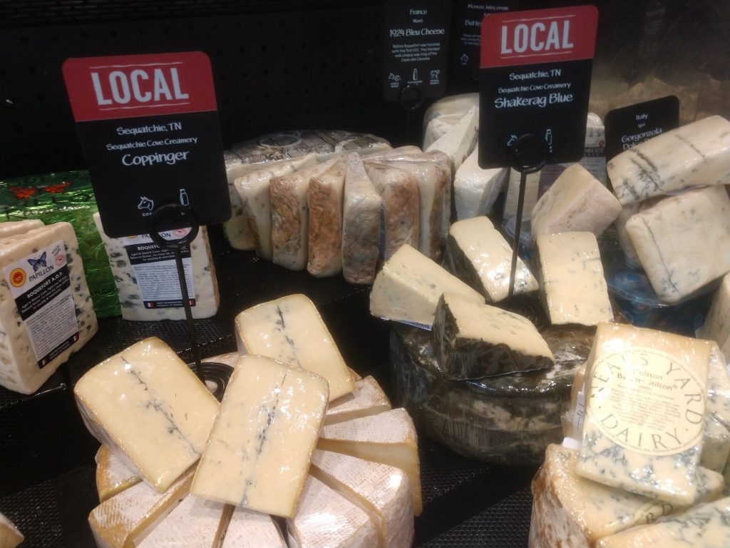 A selection of artisan cheeses, including many from Tennessee, can be found in the cheese department at Whole Foods. (Photo: Anne Braly)