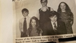 Williamson County 4-H Electric Contest winners, circa 1973, with Gov. Bill Lee standing at far left. (Photo: Review Appeal/writer's collection)