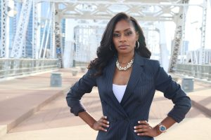 Keeda Haynes stands on the John Seigenthaler Pedestrian Bridge (Photo: Submitted)