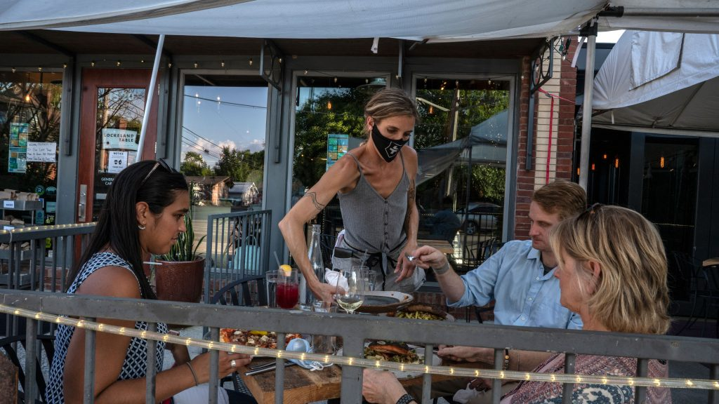 Outdoor seating at Lockeland Table in East Nashville. (Photo: John Partipilo for the Tennessee Lookout)