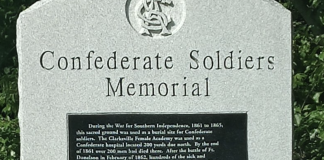 Monument formerly at Confederate Memorial Bridge in Clarksville (Photo: Change.org)