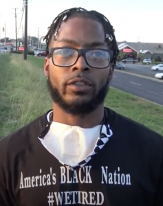Maurice Stegall, leader of Clarksville Black Lives Matter. (Photo: YouTube/Veldin's Most Wanted)