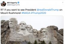 A screenshot of GOP Senate candidate Bill Hagerty's twitter feed. (Photo: Twitter)
