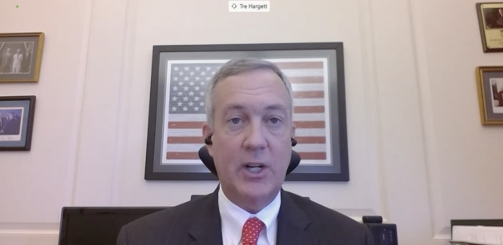 Tennessee Secretary of State Tre Hargett testifies before the U.S. Senate Rules Committee on Absentee Voting. (Screenshot of Senate Rules Committee.)