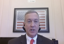 Tennessee Secretary of State Tre Hargett testifies before the U.S. Senate Rules Committee on Absentee Voting. (Screenshot of Senate Rules Committee.)