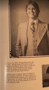 Gov. Bill Lee, Most Outstanding Boy, Franklin High School. (Photo: 1977 Franklin High yearbook)