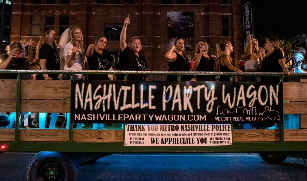 Downtown Nashville on a typical night. (Photo: John Partipilo)