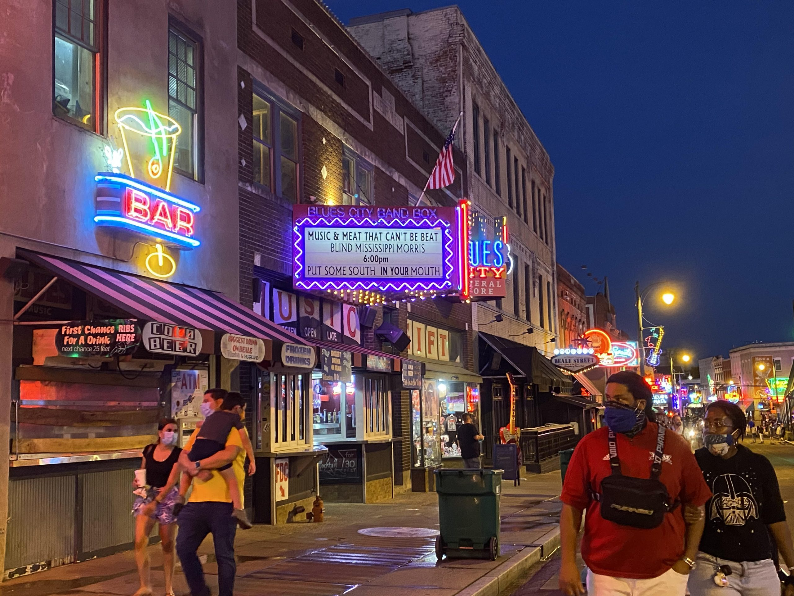 South Main Street in Memphis with few tourists out and about. (Photo: Karen Pulfer Focht)