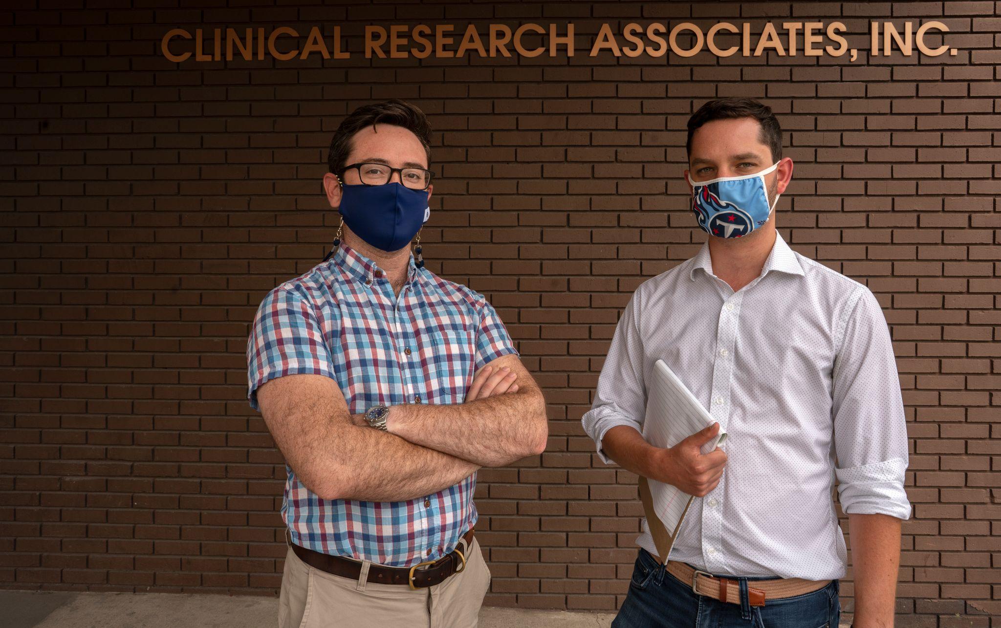Matthew Schipani and Will Krugman with Clinical Research Associates. (Photo: John Partipilo)