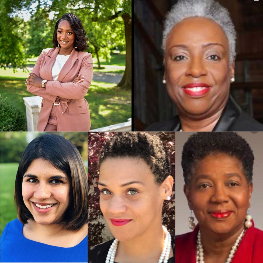 Clockwise from top left: Rep. London Lamar, Councilmember at Large Sharon Hurt, Sen. Brenda Gilmore, Knox County School Board Member Evetty Satterfield, Rupa Blackwell, Tullahoma Chamber of Commerce.