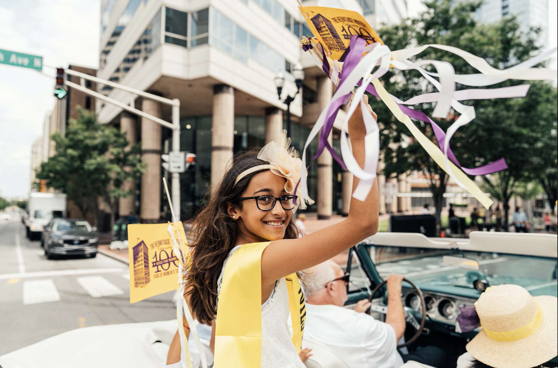 Nashville, Tenn., Aug. 18 - A future voter attends the celebration of the 100th anniversary of the ratification of the 19th Amendment. (Photo: Alex Kent)