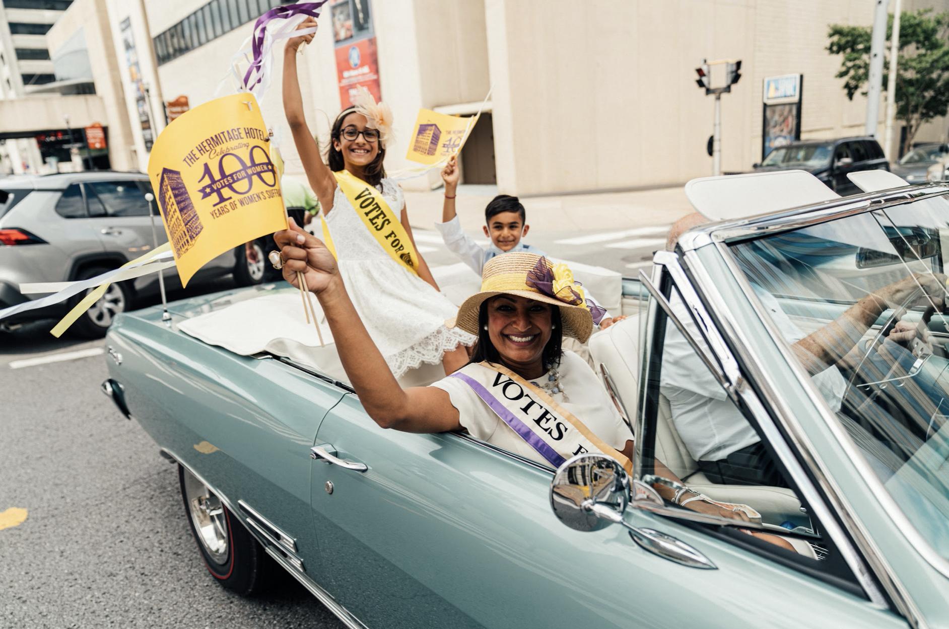 Nashville, Tenn., Aug. 18 - A day of celebration as the 19th Amendment hits the 100 mark. (Photo: Alex Kent)