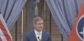 Gov. Bill Lee gives his bi-weekly media briefing Aug. 18. (Photo: Tn.gov)