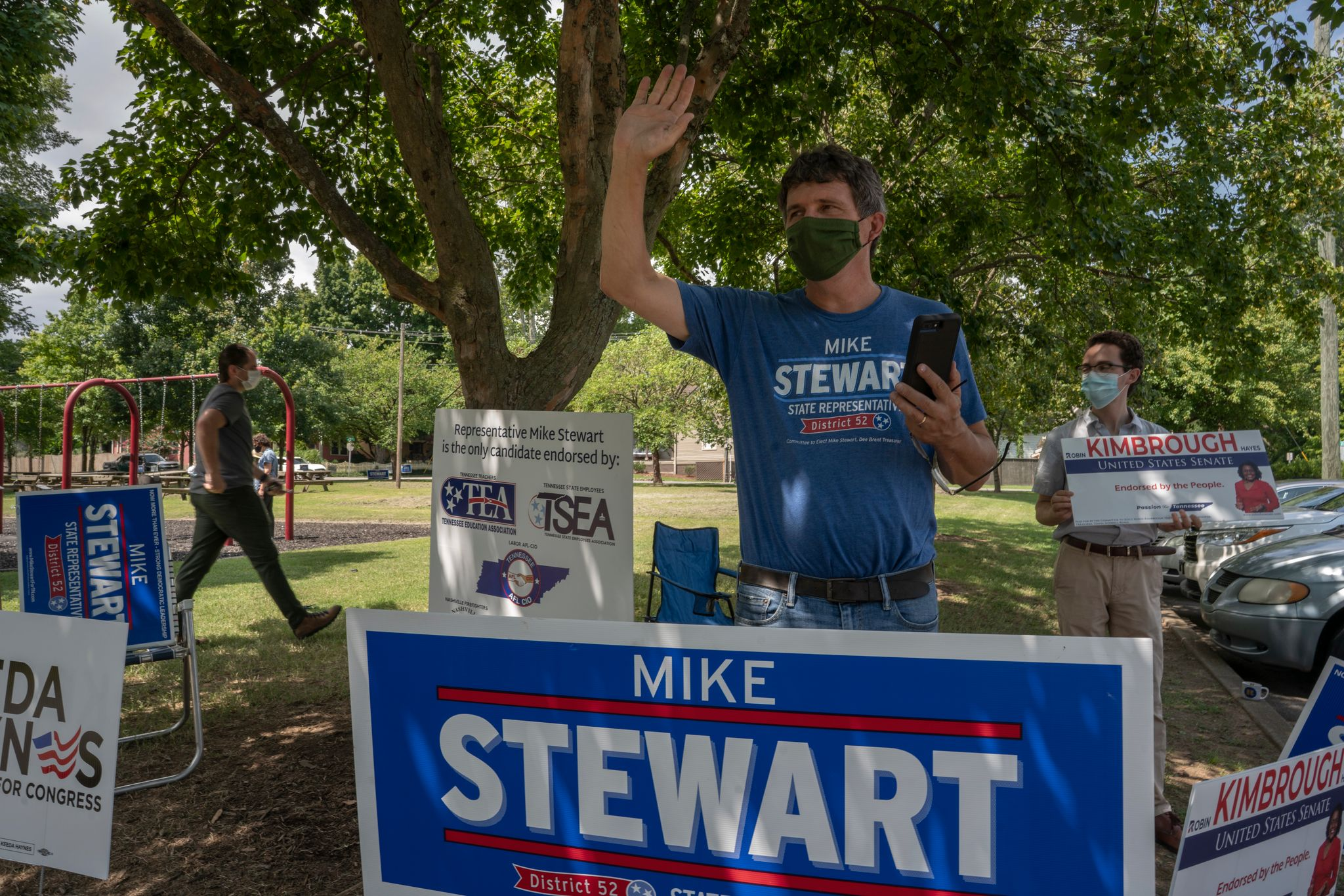State House Democratic Caucus Chair Mike Stewart at Shelby Park, Nashville. (Photo: John Partipilo)
