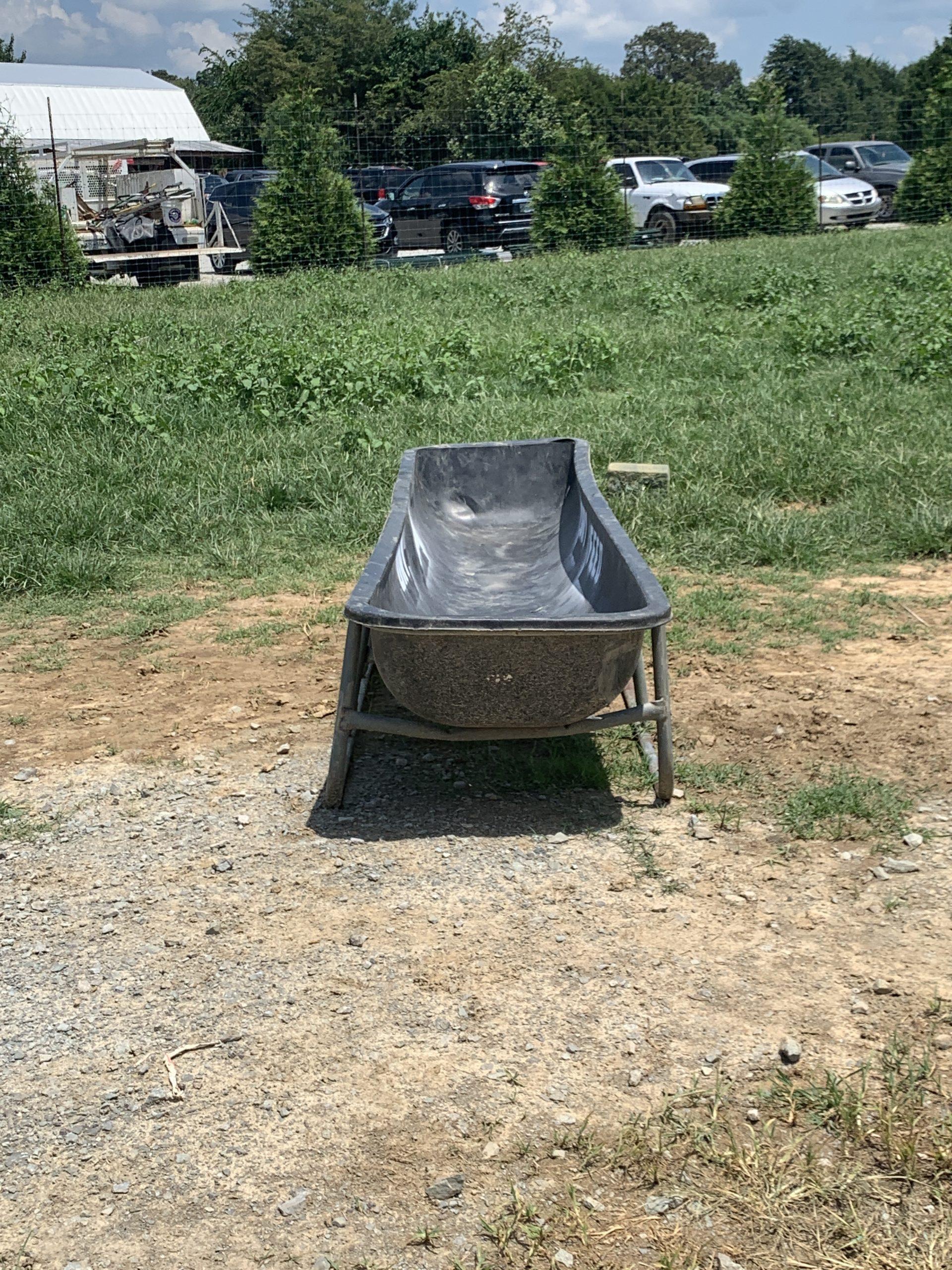 A feed trough at the park. (Photo: Matt Blastin)