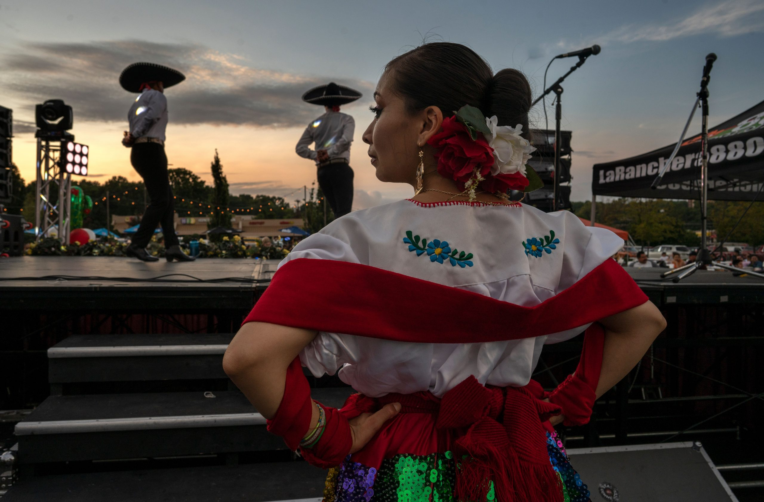 Ruby Rodriguez prepares to take the stage with Ballet Folklorico Sol de Mexico. (Photo: John Partipilo)