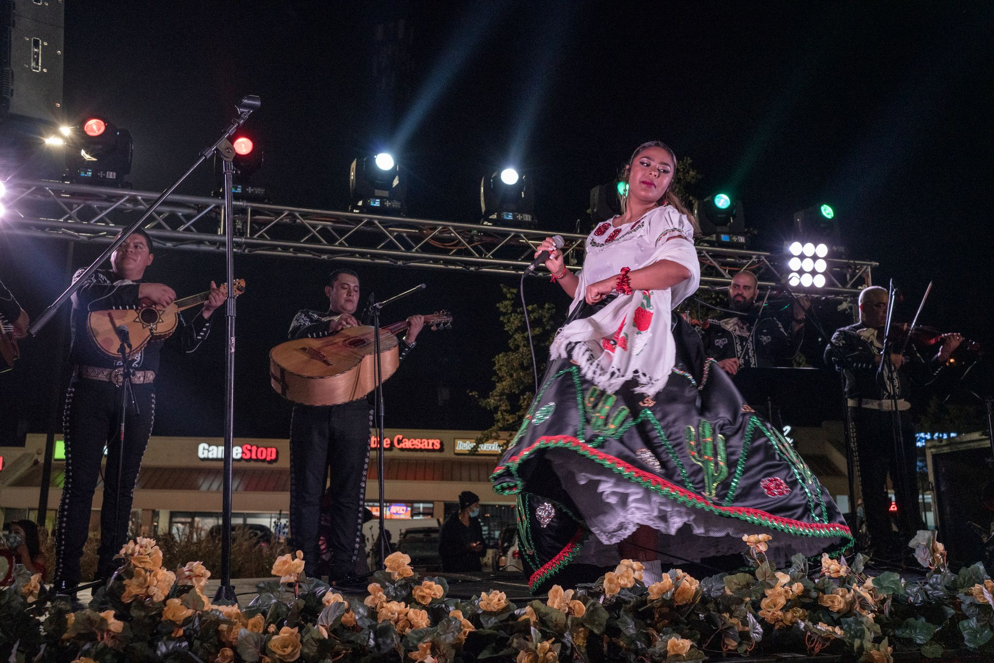 Elena Jimenez performs with Mariachi Nashville during an evening performance on Mexican Independence day at Plaza Mariachi. (Photo: John Partipilo)