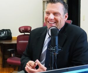 In a conversation for the Kansas Reflector podcast, former Kansas Secretary of State Kris Kobach says he is confident the reshaped U.S. Supreme Court will approve of his requirement that new voters show a birth certificate before registering. (Sherman Smith/Kansas Reflector)