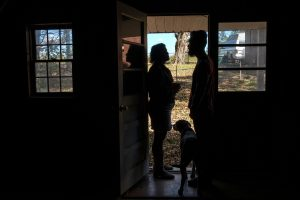 Caudill and Rice inside their Goodlettsville home. (Photo: John Partipilo)