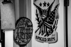 Sign-in station at Tempest Tattoo Studio in Dickson, Tenn. Tempest is one local studio that provides tattoo coverups. (Photo: Matt Bastin)