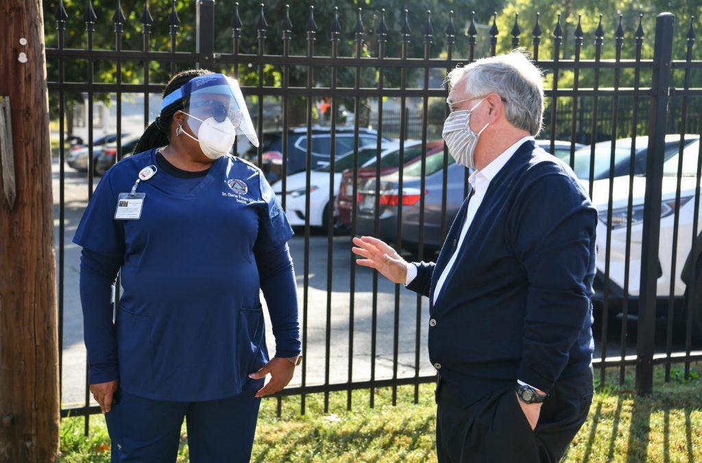 Nashville, Tenn., Oct. 7 - Mayor John Cooper tours COVID-19 assessment centers in Davidson County. (Photo: Nashville.gov)