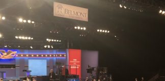 University prior to start of second presidential debate on Oct. 22, 2020/ (Photo: Tennessee Lookout)