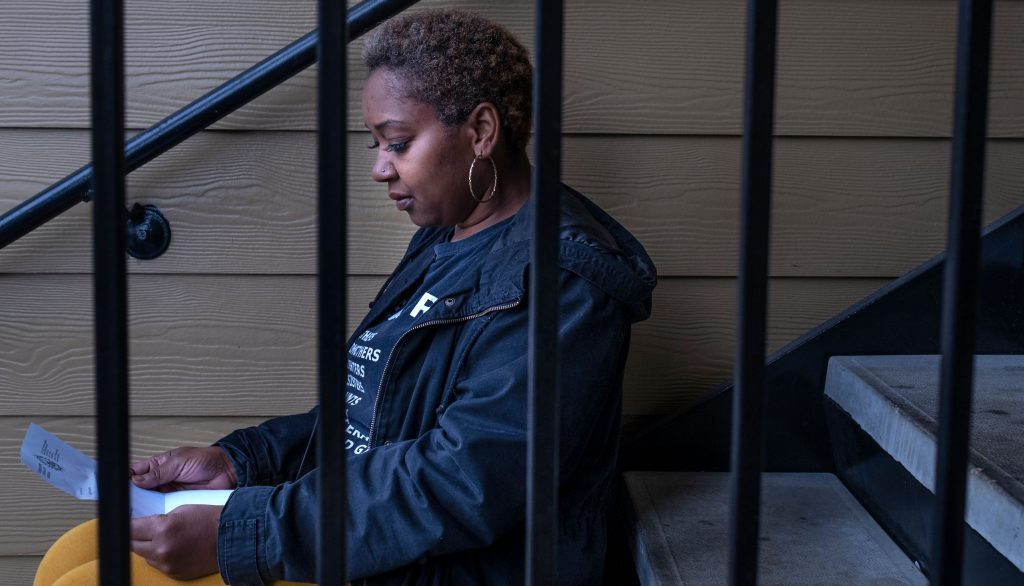 Jawharrah Bahar, who works as the director of outreach for Free Hearts, said it took five years to get her voting rights restored. (Photo: John Partipilo)