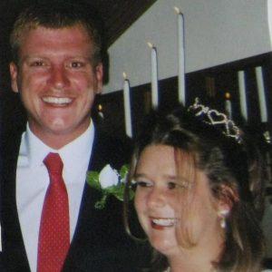 Bobby and Amanda Mercer photographed at their wedding. (Photo: Jessica Herndon)