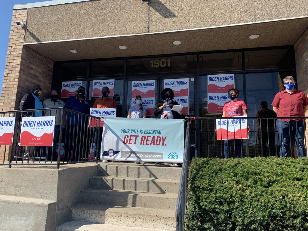Middle Tennessee labor union leaders gathered Thursday to discuss what talking points they will be looking for from President Donald Trump and Democratic nominee Joe Biden at Thursday night's debate. (Photo: Holly McCall)