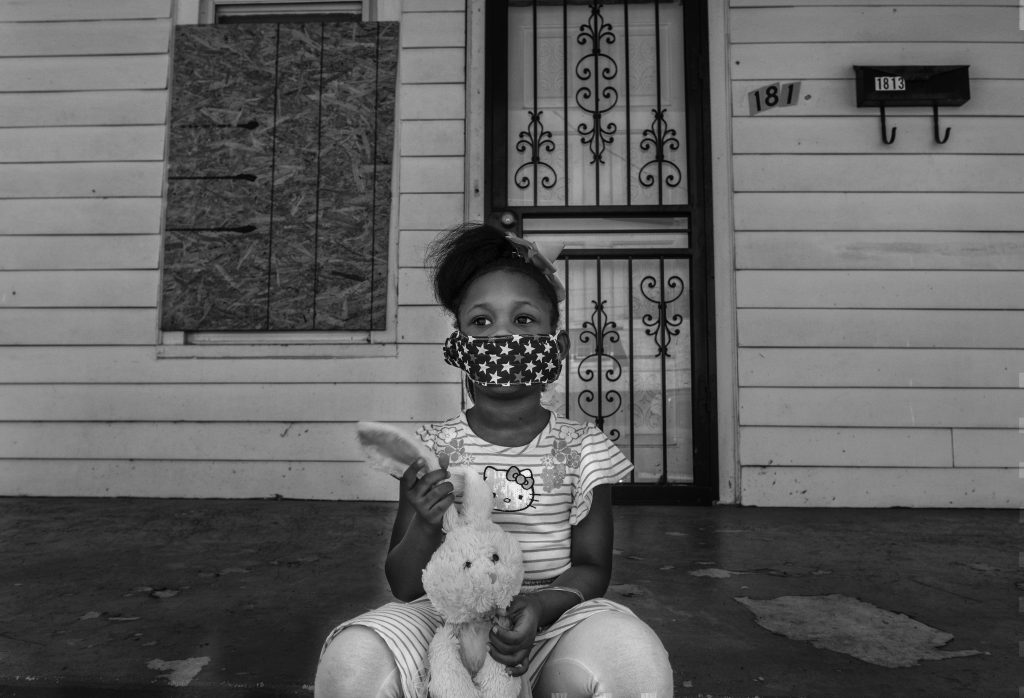 London Moore, 6, at of Historic First Community Church in Nashville. (Photo by John Partipilo)