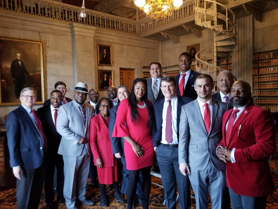 The House Democratic Caucus honors National Go Red Day for Women's Health in Feb. 2019. (Photo: Facebook)