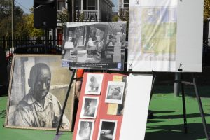 A display of photographs and memorabilia featuring Wiliam Edmondson. (Photo: Dulce Torres Guzman)
